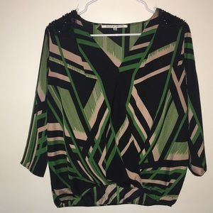 Printed blouse size large